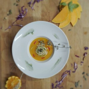 Vellutata di zucca hokkaido al profumo d'arancia
